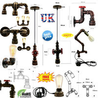 Vintage Lighting Water pipe Industrial Rustic Steampunk Ceiling Wall Table UK