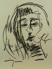 JOSE TRUJILLO EXPRESSIONISM ORIGINAL CHARCOAL DRAWING Portrait MODERN SIGNED
