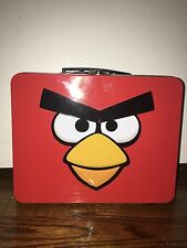 Angry Birds Square Carry All Stationary Lunch Box Metal Tin Lunchbox - Red