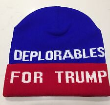 DEPLORABLES FOR TRUMP Make America Great Again 2016 BEANIE HAT DONALD PRESIDENT!