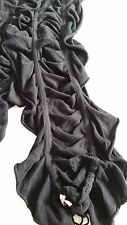 JUICY COUTURE black ruffle neck scarf