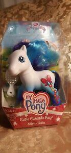 Hasbro 2006 G3 My Little Pony Cutie Cascade Pony Silver Rain NIB