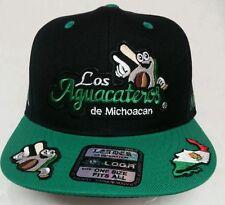 LOS AGUACATEROS DE MICHOACAN HAT BLACK  GRREN SNAP BACK CON 6 LOGOS EN LA GORRA