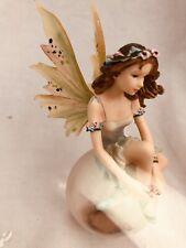 "Miniture Fairy Bubble Rider Figurine.""Dewdance&# 034;"