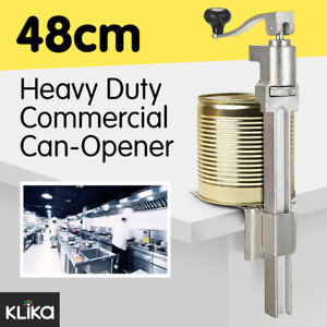 Heavy Duty Large Commercial Can Opener Counter Bench Top Cast Steel Table Mount