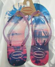 Havaianas Flip Flops size 10.5, 11-12 Purple red blue pink white Hawaii CUTE New