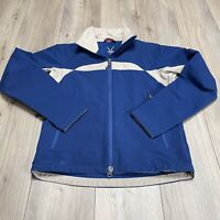 Ibex Peak Climawool Mens Full Zip Jacket Blue Cream Size  Small