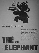 PUBLICITÉ DE PRESSE 1952 UN THÉ DE L'ÉLÉPHANT EN UN CLIN D'OEIL - ADVERTISING