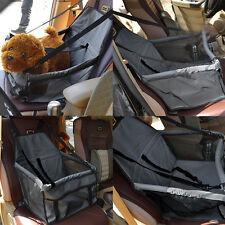 Folding Pet Dog Cat Car Seat Safe Belt  Basket Booster Travel Carrier Bag Black