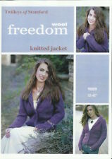 """Twilleys Knitting Pattern 9009 Ladies Knitted Collar Jacket 32-42"""" Super Chunky"""