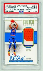 KEVIN KNOX 2018 Panini National Treasures CLUTCH PRIME /25 Rookie PSA RC RPA