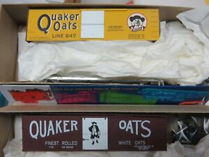 K&D SALE* QUAKER OATS 36' Wood Side Box Car KITS (2 car set / 2 car #) NIB