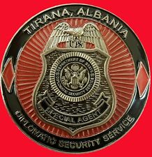 US EMBASSY DIPLOMATIC SECURITY SERVICE CHALLENGE COIN AU 64
