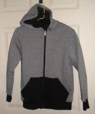 NWOT TONY HAWK Boys Fleece Lined Black & White Zippered Knit Hoodie Jacket, SZ S