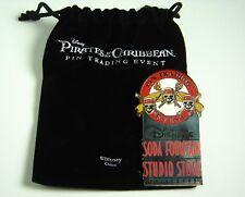 Disney Pirates of Caribbean Soda Fountain Pin Trading Event Logo LE 300 POTC DSF