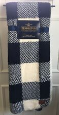 New Pendleton Home Collection Super Soft Throw Blanket Sherpa Navy Cream 50x70
