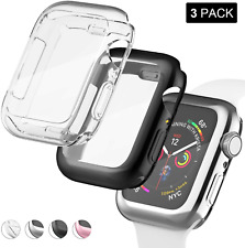 Apple Watch Series 6/5/4 Screen Protector Case TPU Full Coverage HD Cover 3 Pack