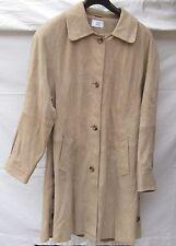 Mantel Alba Moda A-Linie Echtleder beige neuwertig Gr. 36  fällt wie 40, 42 aus