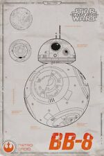 Poster STAR WARS 7 - Plans BB-8 - Astro Droid - Force Awakens 61x91,5 NEU 58647