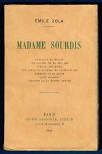 Edition Originale, Vélin bibliophile, Madame Sourdis, Emile Zola, Fasquelle 1929