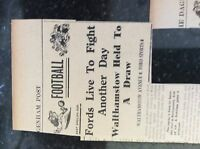 M3-8a 1941 dagenham. ww2 football report walthamstow v ford sports harden clark