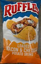 NEW RUFFLES LOADED BACON & CHEDDAR POTATO SKINS FLAVORED CHIPS 8.5 OZ BAG BUY IT