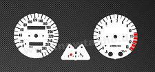 Kawasaki  ZRX 1100 Tachoscheiben Tacho ZRX1100 Gauge dial speedo disk weiss Set