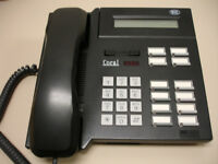 Five Refurbished Black Tadiran Coral DKT-1110 Phones (Tadiran DKT1110)