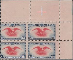 "#C23a TOP RIGHT; BLK/4 WITH MAJOR PERF SHIFT ERROR ""EAGLE"" BN7182"