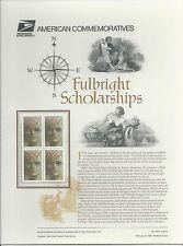 # 3065 FULBRIGHT SCHOLARSHIPS   32-Cent 1996 Commemorative Panel