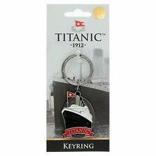 Titanic Ship Shaped Vintage Collectors Metal Keyring (sg)