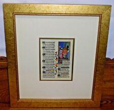 Framed Illuminated Religious Manuscript Print