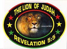 LION OF JUDAH BLACK LARGE T-SHIRT REVELATION 5:5 REGGAE RASTA BOB MARLEY BIBLE