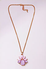 LOVELY GORGEOUS CHAIN NECKLACE PINK FLOWER JEWEL PENDANT UNIQUE GIFT (CL21)
