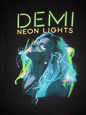 DEMI LOVATO Singer Neon Lights Tour 2014 Concert Dates Cities Small S T SHIRT