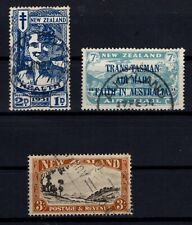 P134106/ NEW ZEALAND STAMPS / SG # 547 – 554 - 569 USED CV 214 $