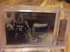 2014-15 PANINI NOIR ANDREW WIGGINS BLACK & WHITE RC AUTO JERSEY /99 BGS 8.5 & 9