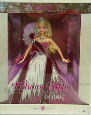 2005 Holiday Barbie by Bob Mackie Collector's Doll #H8058 Burgundy Gown Nrfb