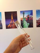 B FRIDAY 5 x Large glass test tubes 200 x 30mm borosilicate, rim, Cork stoppers