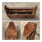 Old Vintage Antique Large Wooden Wood Machinist Carpenter Tool Box Carrying Case