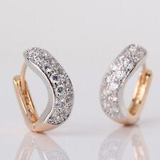 Bling bling  white sapphire intriguing 18K Gold Platinum filled earring