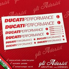 Set 13 Adesivi DUCATI Performance OLD moto Bianco e Rosso