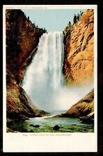 1902 Lower Falls of the Yellowstone National Park landscape postcard