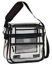 Clear Transparent Messenger Bag with 2 Compartments