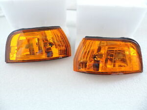 New Pair of JDM Look Amber Front Corner Lights For~1992~1993~92~93~Honda Accord