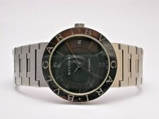 BVLGARI #BB 33 SS AUTOMATIC STAINLESS STEEL BLACK DIAL MENS WATCH