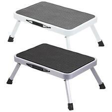 More details for easy reach folding step ladder stool foldable anti slip feet kitchen garage home