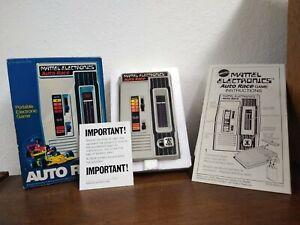 Mattel Electronics Auto Race Handheld Video Game Vtg 1976 w Orig Box Instruction