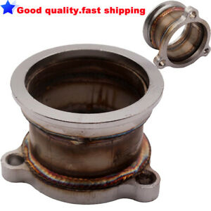 """T3 T4 T04E 3 Bolt TO 2.5"""" V-Band Adaptor Turbo Converter Downpipe Exhaust Flange"""