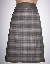 LAURA ASHLEY CHECKED PANELS A-LINE KNEE-LENGTH SKIRT 12 UK WAS £65 NEW WITH TAG